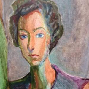 Sharpham painting of Ruth Ash by Zdzislaw Ruszkowski