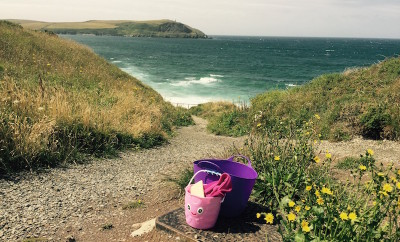 Beach gear near Greenaway Beach St Moritz Cornwall COPYRIGHT QUEEN OF RETREATS.jpg