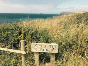 Beach sign for Greenaway Beach St Moritz Cornwall COPYRIGHT QUEEN OF RETREATS