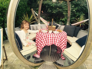 Cary Arms Devon breakfast in the pod COPYRIGHT Queen of Retreats
