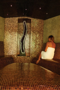 Steam room at Gwinganna