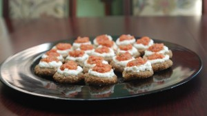 Raw Pizza Canapes