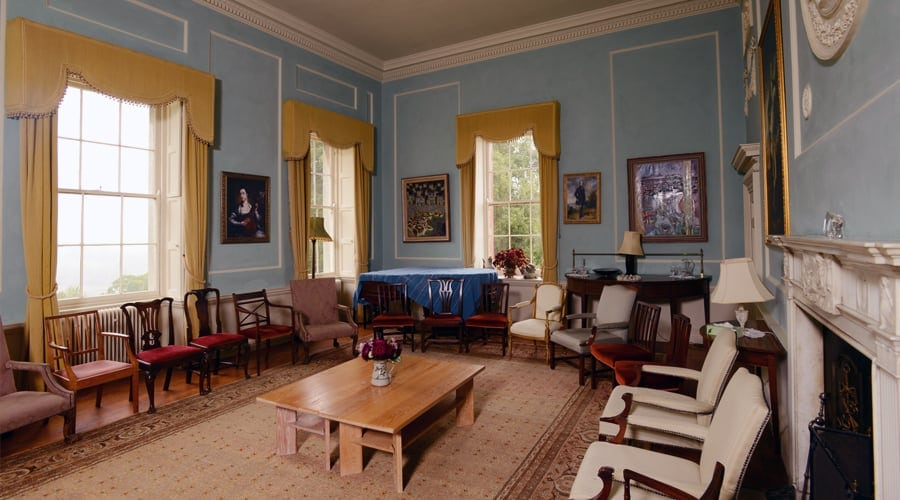 Mindfulness retreats in Sharpham House - Sharpham Trust - The Music Room